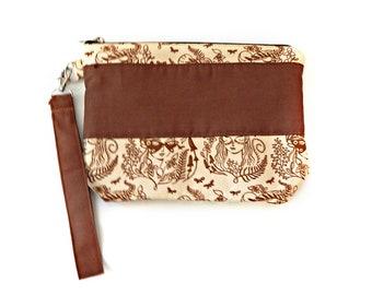 Artemis Wristlet / Vegan Bag / Pagan Gift Ideas