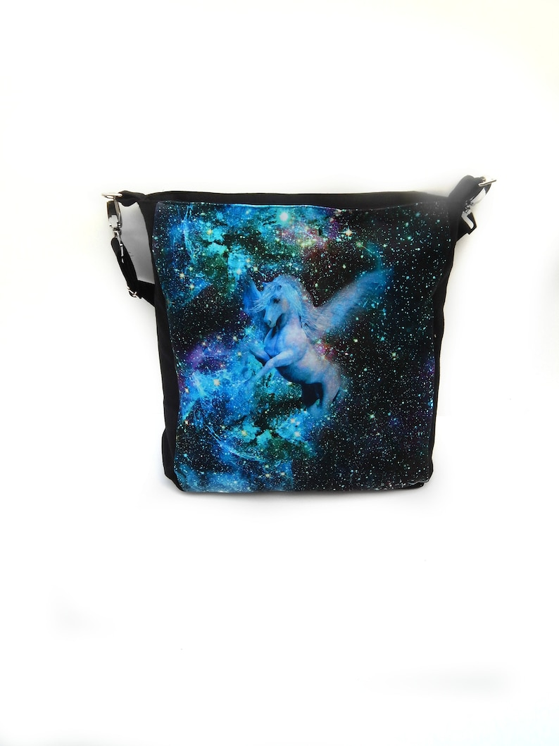 Large Crossbody Bag Cross Body Handbag with Pegasus Design image 0