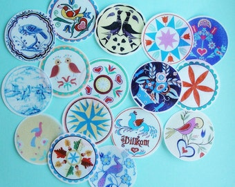 Dutch Delft Tile edible image wafer papers for your Iced Cookies, Cupcakes, Chocolates and Fondant
