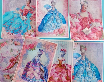 Marie Antoinette Birthday Cake Edible Image wafer papers for your cake, giant cookies and giant treats