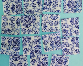 Lovely Blue and White China Pattern edible image wafer papers for your iced cookies, cupcakes and chocolates