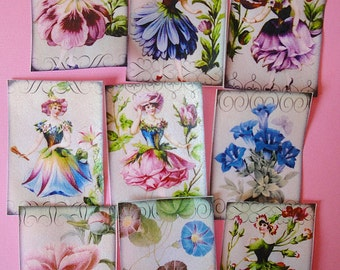 Flower Fairy Edible Image Wafer Papers for your cookies, fondant, chocolates