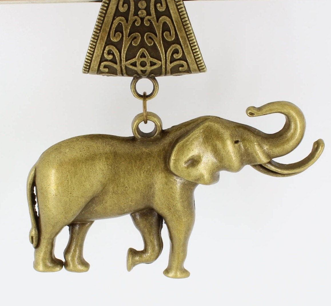Large,Elephant,Antique,Brass,Scarf,Pendant,~,Accessory~,Charm,Jewelry,scarf_charm,scarf_accessory,scarf_pendant,scarf_jewelry,scarf_slide,scarf_bling,antique_brass,elephant_scarf_slide,elephant_pendant,brass_elephant,elephant_with_tusks,animal_lover_gift,elephant pendant,antique brass scarf bail,jump ring