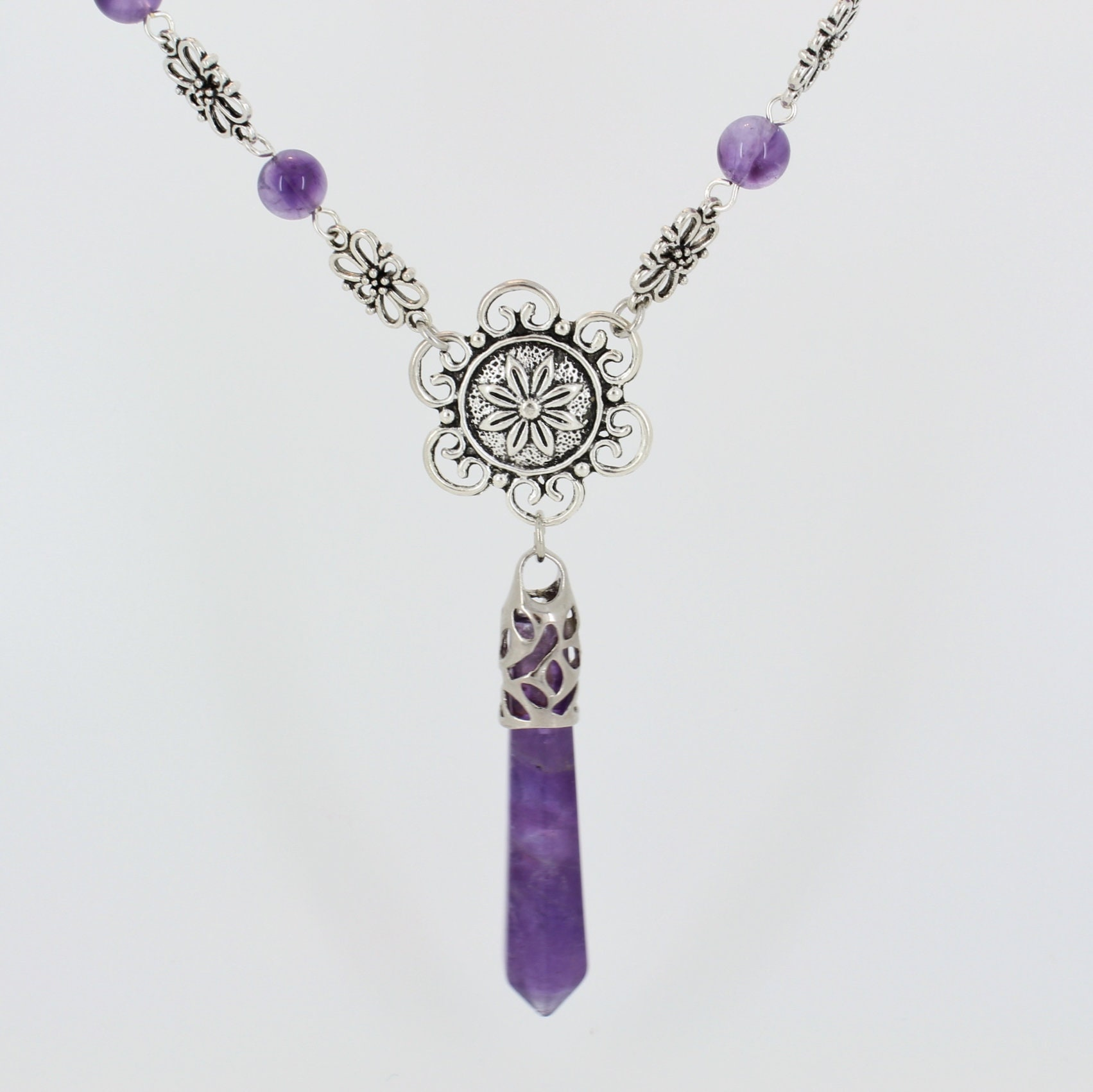 Genuine Amethyst Pendant Necklace - product images  of
