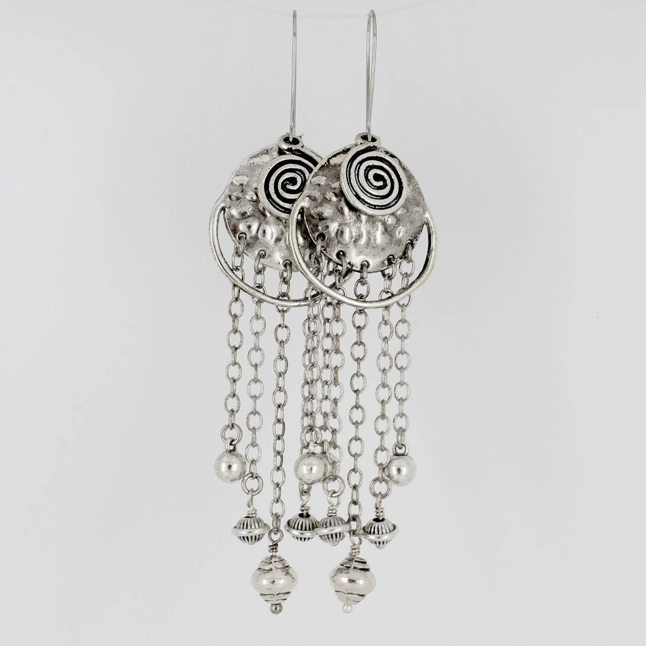Long,Bohemian,Earrings,Jewelry,dangle_earrings,gift_for_her,unusual_jewelry,newest_trends,sophisticated,classy_earrings,Tibetan_earrings,statement_earrings,Ethnic_earrings,Tribal_Earrings,silver_chains,Silver chains,connectors,beads,kidney wires,headpins,jumprings