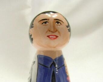 Saint Gianna Beretta Molla - Catholic Saint Wooden Peg Doll Toy- made to order