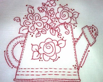 Stitch It Up Watering Can Pattern