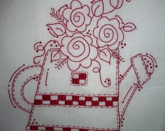 Checkered Watering Can Pattern
