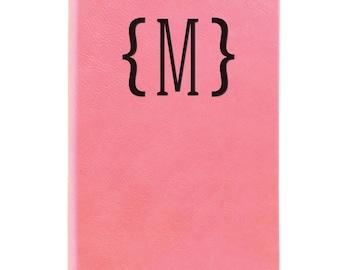 Leather Journal-Monogram W/Brackets 31698