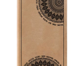 Leather Journal-Doily Design 31664