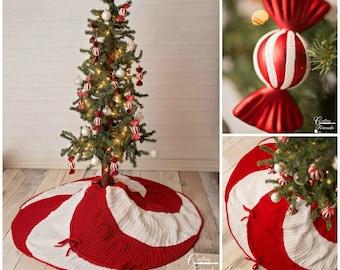 Christmas tree skirt pattern etsy