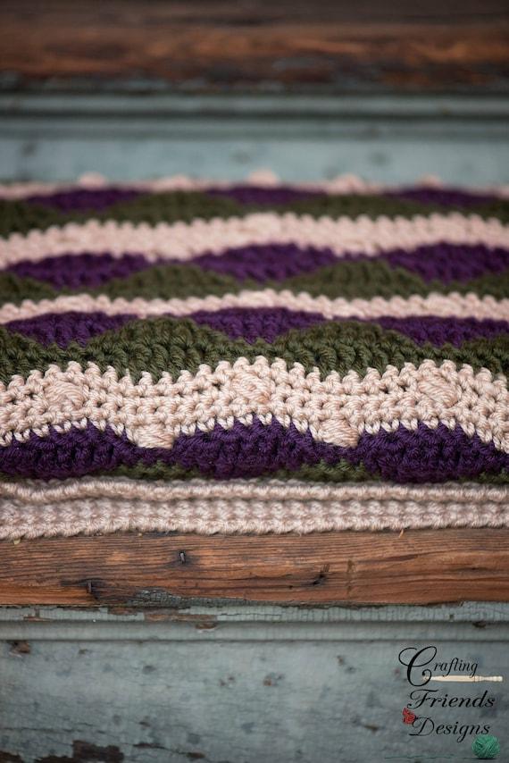 Majestic Waves Afghan Crochet Pattern Beautiful Ripple Etsy