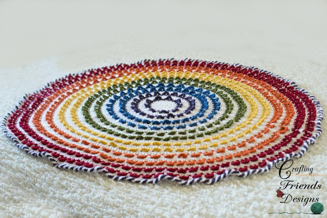 Crochet Pattern Loop The Loop Round Textured Rainbow Afghan Etsy