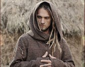 Brown Pullover with Hoodie