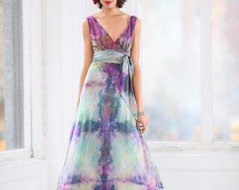 Boho Chic Wedding Gown Silk Mother Of The Bride Beach Boho Etsy