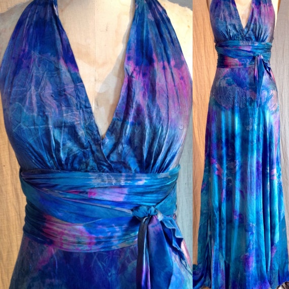 Ocean Blue Tie Dyed Boho Chic Bridal Gown Tie Dye Bridesmaids Etsy,Fall Dresses To Wear To A Wedding As A Guest