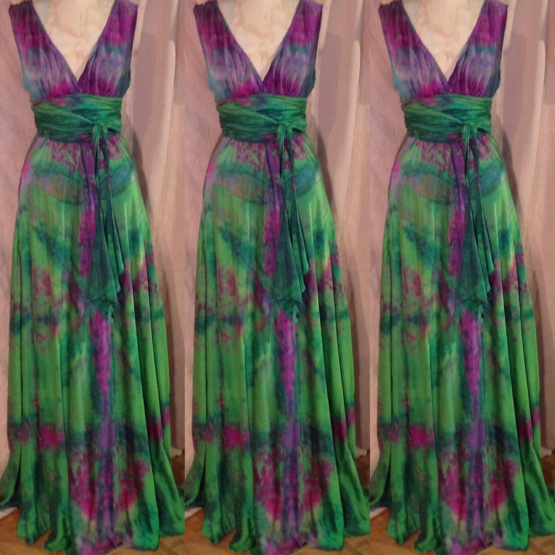 Green Purple Burgundy Vneck Plus Size Wedding Dress Boho Chic Etsy
