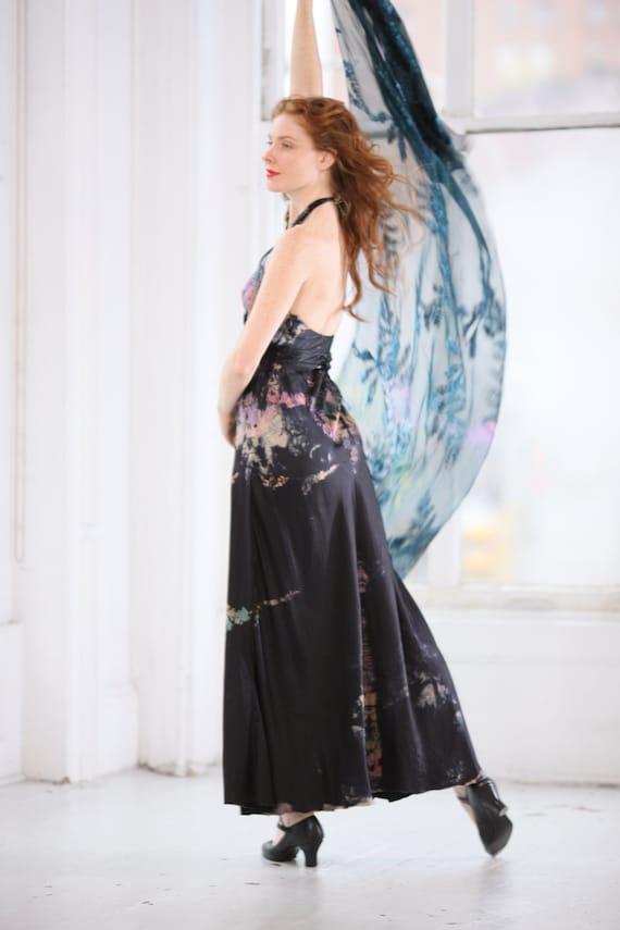 Black Silk Halter With A Twist Wedding Dress Boho Chic Mother Etsy