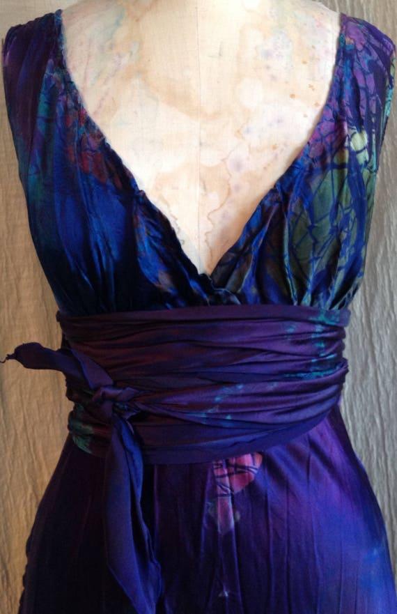 Deep Purple Silk Boho Chic Mother Of The Bride Dress Beach Etsy