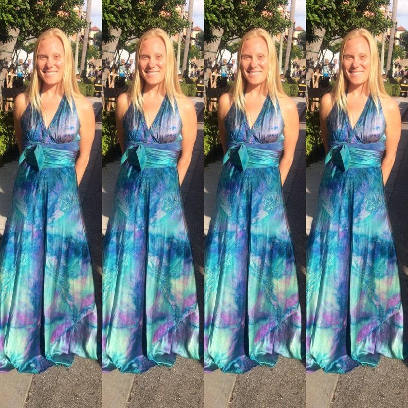 Turquoise Jurk Bruiloft.Turquoise Zijde Halster Bruiloft Jurk Boho Chic Bruids Etsy