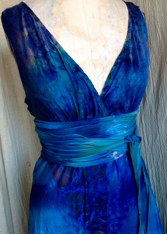 Deep Ocean Blue Mother Of The Bride Long Gown Boho Chic Bridal Etsy,Fall Dresses To Wear To A Wedding As A Guest