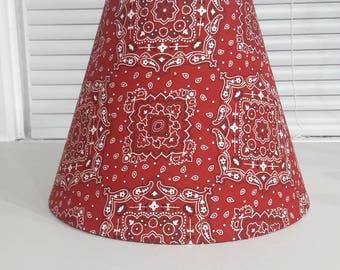 Paisley lamp shade etsy handkerchief style lamp shade bandana paisley design aloadofball Choice Image