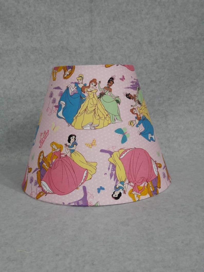 Disney Princess Lamp Shade Snow White Aurora Jasmine Rapunzel Belle Tiana Shades Are 9 5 X 5 X 7 Tall