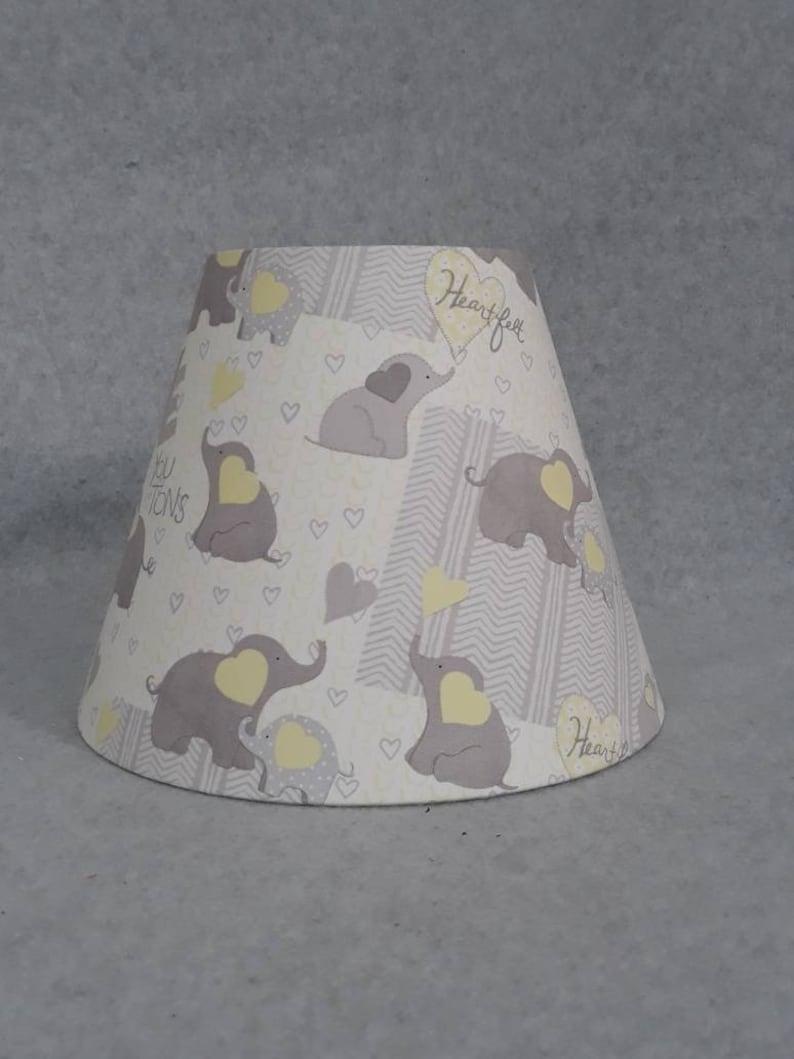 fb8df347da33 Elephant lamp shade. Gray / grey and yellow lamp shade. | Etsy