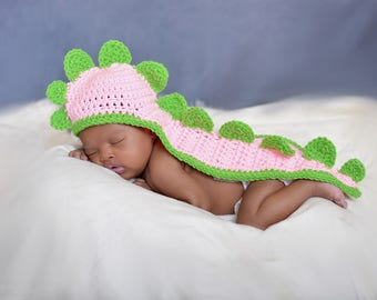 Baby Set/Dinosaur Photo Prop/ (fits Newborn, 0 to 3, 3-6, 6-12 months)