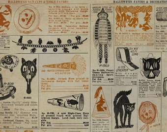 Tim Holtz REGIONS BEYOND Masquerade Multi PWTH154 Free Spirit Fabric, Quilt Fabric, Cotton Fabric, Halloween Fabric, Fabric By The Yard