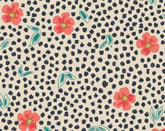INDIE FOLK  Pat Bravo, Art Gallery Fabrics, Mist Flora Luminous, Fabric By the Yard, Boho Nursery Decor, Woodland Baby Quilt, Floral Fabric