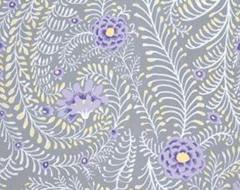 Ferns in Grey PWGP147, Kaffe Fassett Fabric, Free Spirit Fabrics, Shabby Chic, Gray Fabric, Quilt Fabric, Cotton Fabric,  Fabric By the Yard