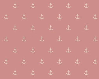 ENCHANTED VOYAGE Art Gallery Fabrics, Nautique Spell Blush ENV-71781, Anchors, Quilt Fabric, Quilting Fabric, Nautical, Fabric By The Yard