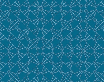 Catch and Release Art Gallery Fabrics, Crocheting the Net CTR-24901, Quilt Fabric, Blue Fabric, Cotton, Geometric Fabric, Fabric By The Yard