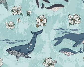Art Gallery Fabrics Enchanted Voyage, Underwater Enchant Solar ENV-61780, Nautical Quilt, Beach Decor, Quilt Fabric, Fabric By The Yard
