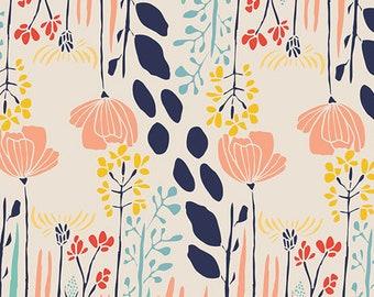 Art Gallery Fabrics, Summer Grove by Day MW-70020, MEADOW, Leah Duncan, Baby Girl Quilt, Woodland Nursery Decor, Fabric By the Yard