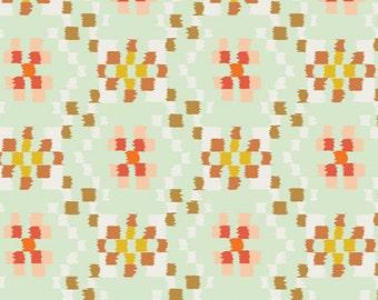 Cotton Art Gallery Fabrics Shabby Chic Love Notes Retro CHR-1303 Yellow Floral CHROMATICS Pat Bravo Fabric By the Yard Quilting