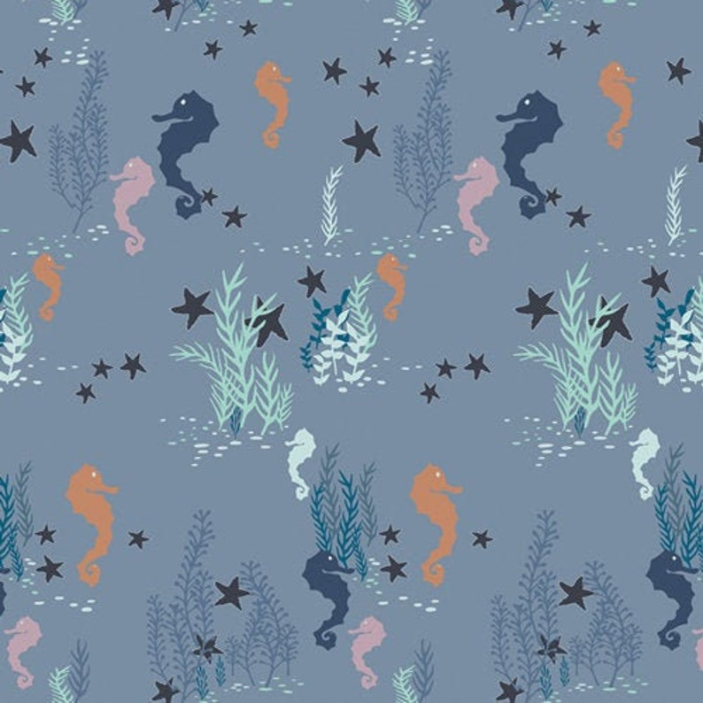 ENCHANTED VOYAGE Art Gallery Fabrics Seahorse Magic Shallow image 0