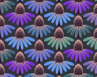 Echinacea Glow Amethyst PWAH149, HINDSIGHT, Anna Maria Horner, Cone Flower, Quilt Fabric, Cotton Fabric, Floral Fabric, Fabric By The Yard