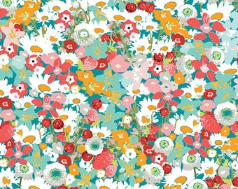 LAVISH Flowered Medley LAH-26806 Katarina Roccella for Art Gallery Fabrics, Quilt Fabric, Cotton Fabric, Floral Fabric, Fabric By The Yard