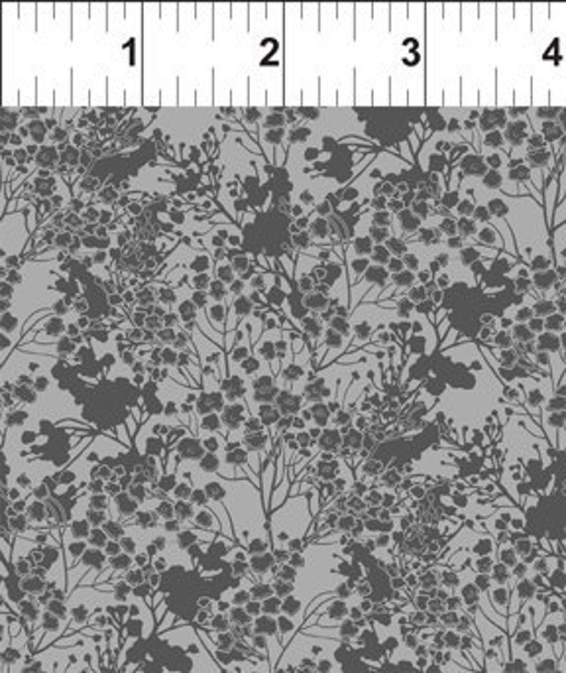 Garden Delights Grey 7GSG-7 In the Beginning Fabric Shabby image 0