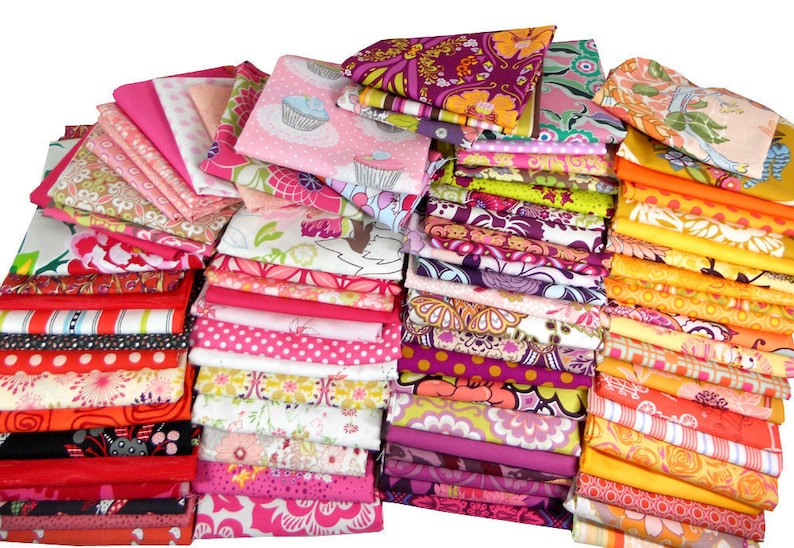 Fabric Scraps Quilting Scrap Bundle Quilt Scrap Bag Bolt image 0