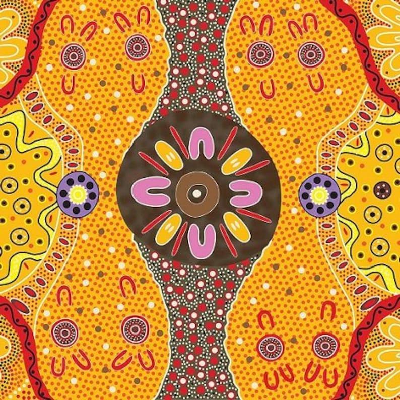 Womens Business Gold Australian Fabric Aboriginal Fabric image 0