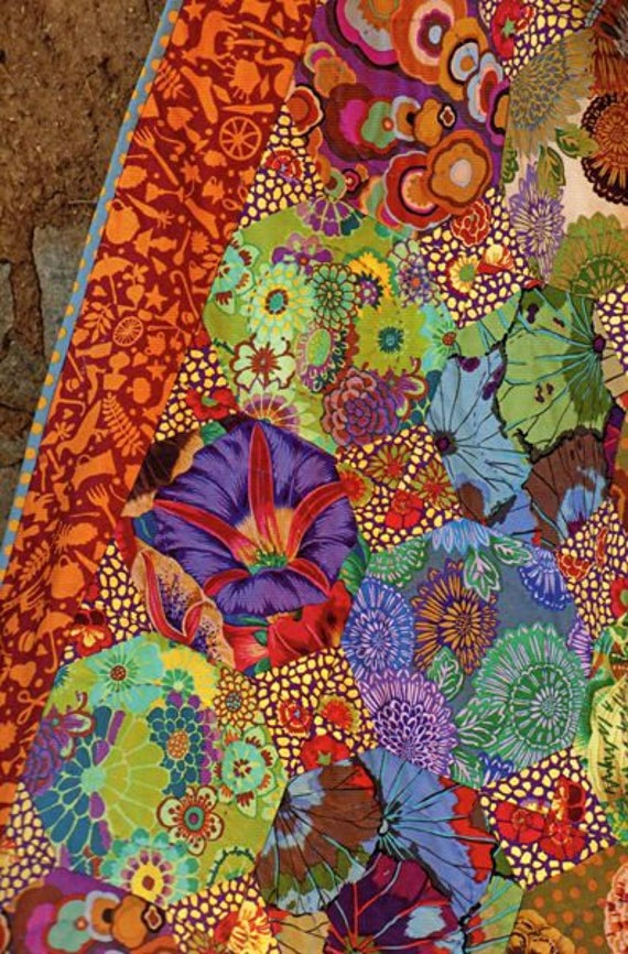 1//2 Yard Kaffe Fassett Glory DARK Quilting Cotton Patchwork Fabric