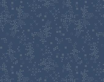 Sofia Midnight TAL-65303, TALLINN, Jessica Swift, Art Gallery Fabrics, Indigo Fabric, Blue Blender, Quilt Fabric, Cotton Fabric By The Yard