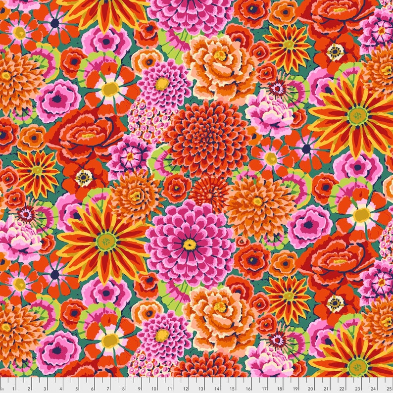 Enchanted in Red PWGP172 Kaffe Fassett Fabric Philip Jacobs image 0