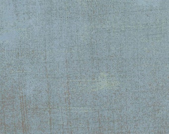 Grunge Basics AVALANCHE 30150-84, BasicGrey, Moda Fabrics, Blue Grey Blender, Cotton Fabric, Quilt Fabric, Background , Fabric By the Yard
