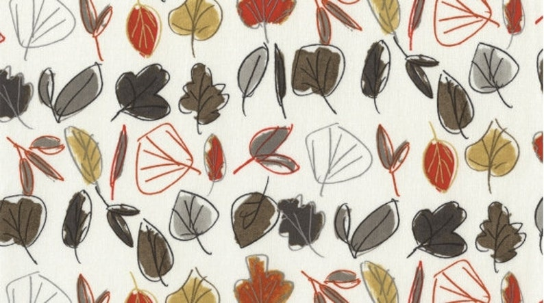 330 Bone Leaves Fabric by Dear Stella 100/% cotton fat quarters