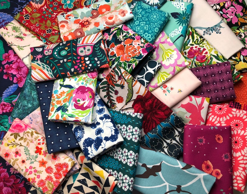 Fabric Scraps Quilting Scrap Bundle Quilt Scrap Bag Bolt image 0