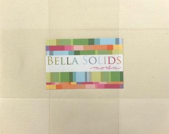 Moda Layer Cake Bella Solids MIXED NEUTRALS, (42) 10 Inch Squares, Quilt Fabric, Neutral Precuts, Off White Fabric Squares, Solid Precuts